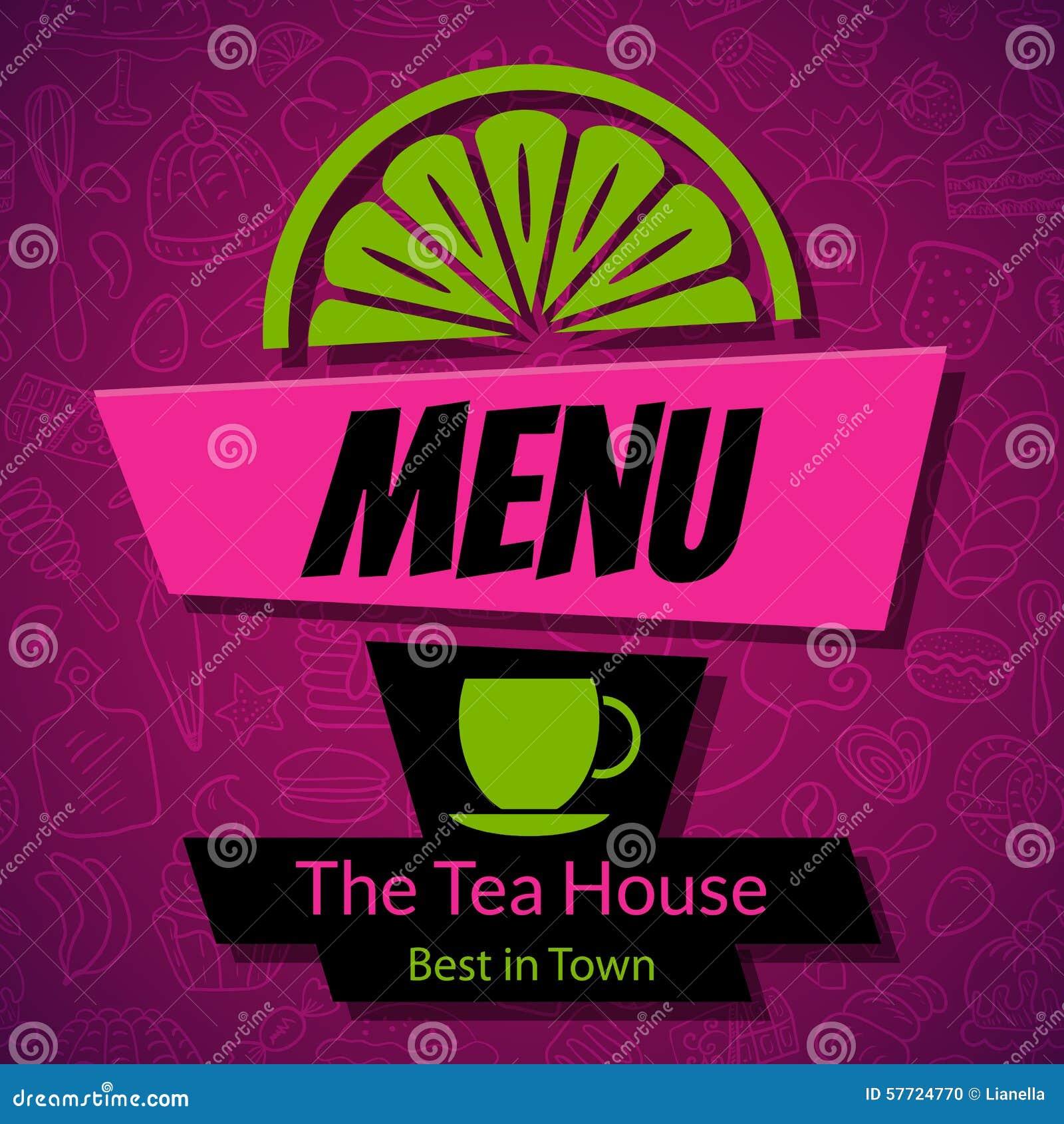 modern tea house menu card design template stock vector - image