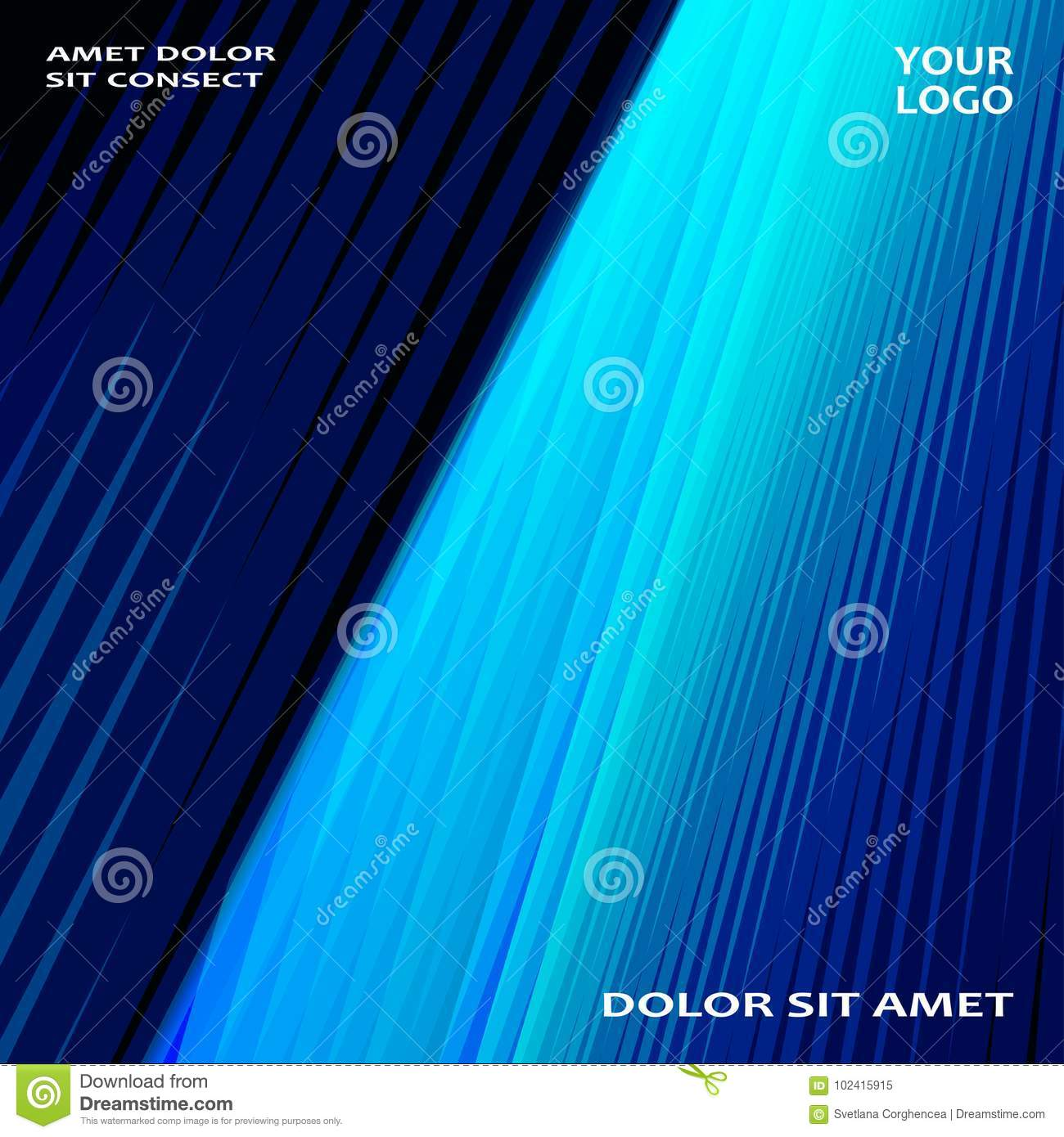 Modern technology striped abstract covers design blue. Neon line