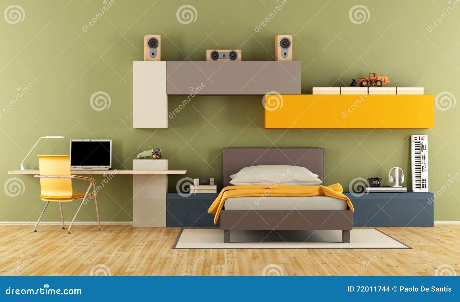 Modern Teenage Boy Bedroom
