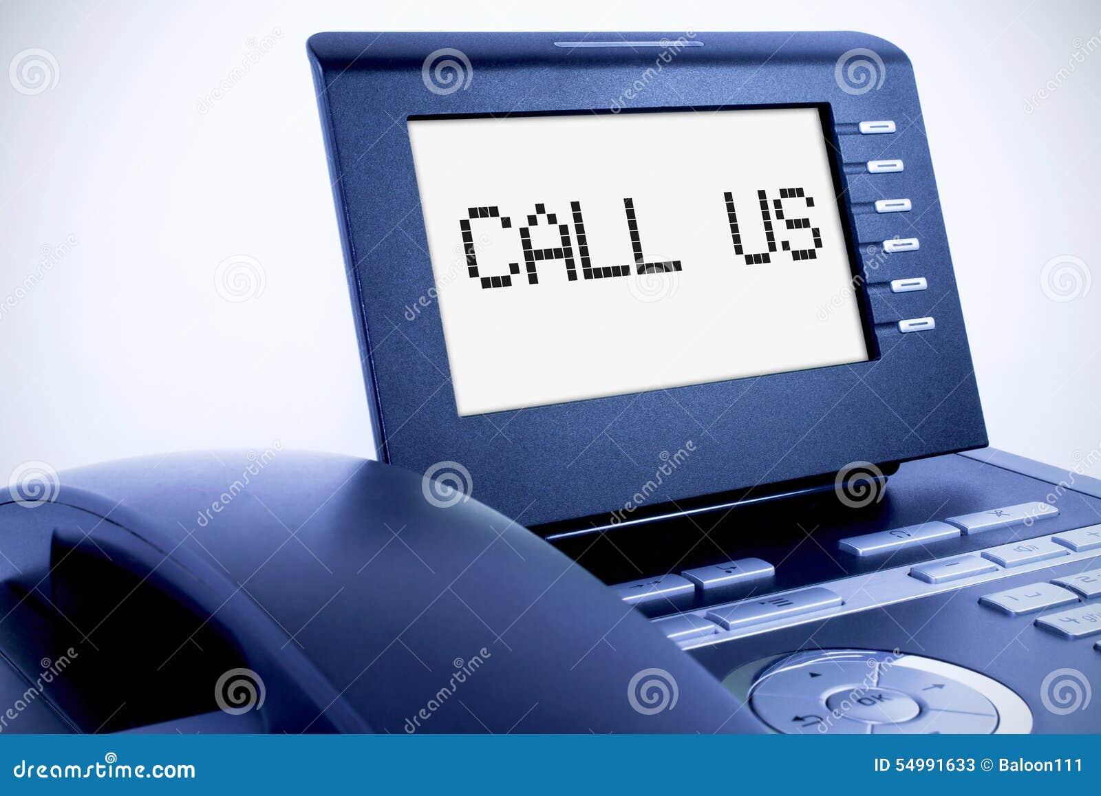 Modern telefon med en skärm
