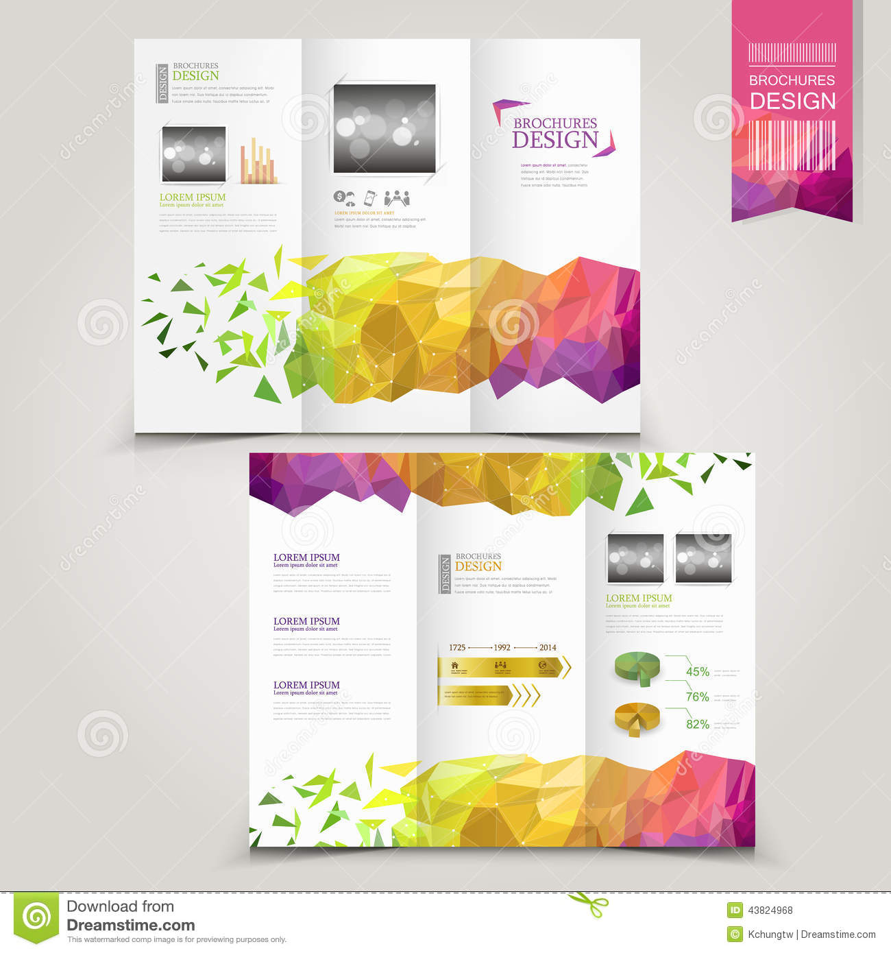 Modern Template For Advertising Concept Brochure With