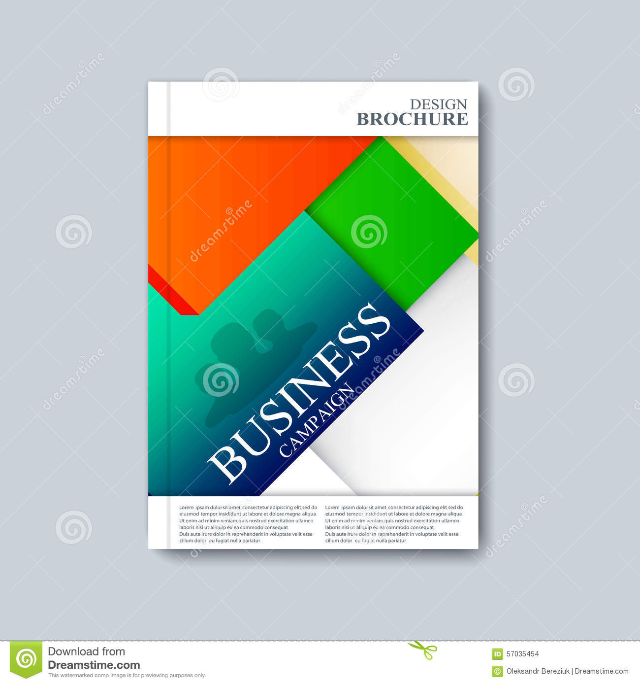 Vector brochure template flyer cover magazine in a4 size for Booklet brochure template