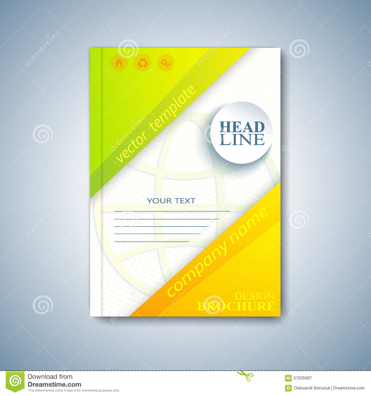 Modern Template Layout Brochure Magazine Flyer Booklet Cover – Proposal Cover Page Design