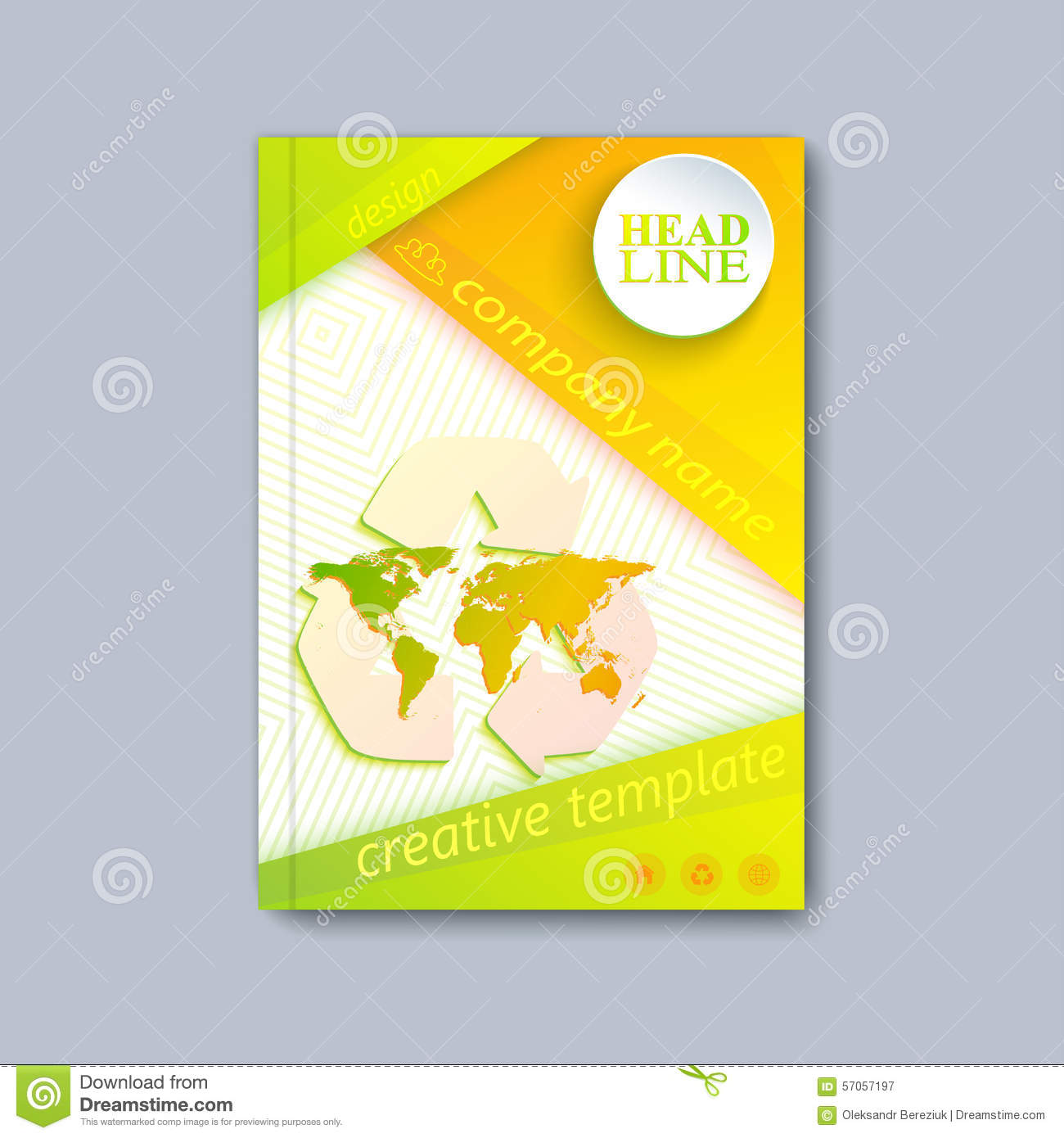 Annual Report Brochure Flyer Design Template Vector Map Design – Free Report Cover Templates