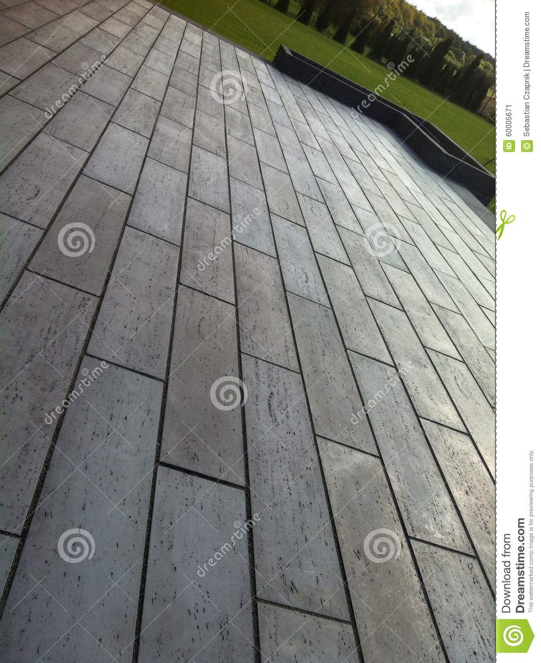 Modern terrace of concrete tiles stock image image of for Terrace tiles