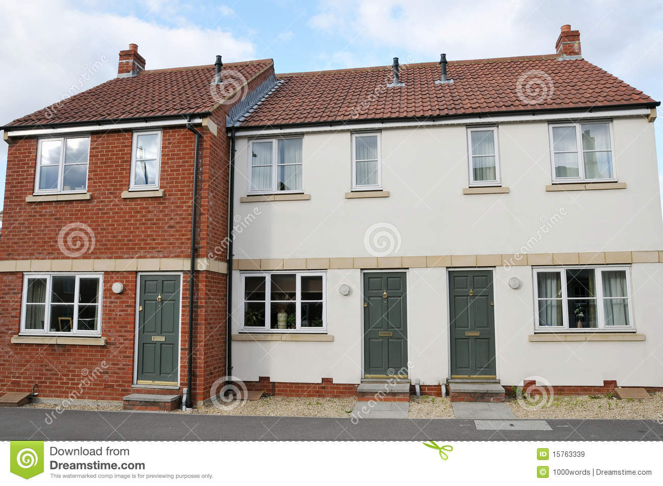 Modern terraced houses royalty free stock images image for Terraced house meaning