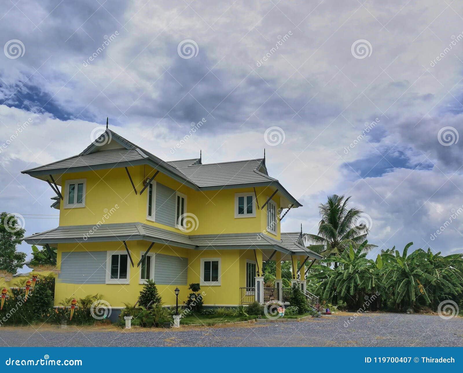 Modern Thai House Stock Image Image Of Design Asian