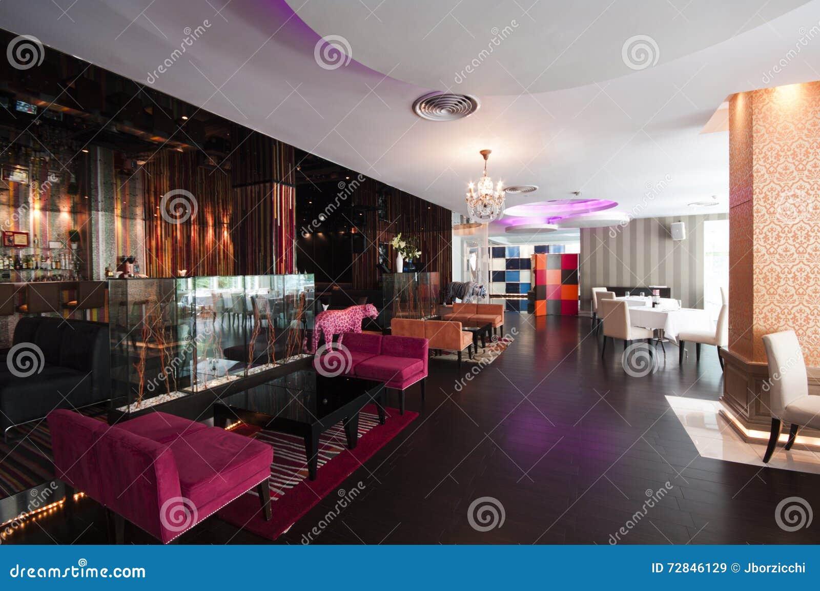 modern thai restaurant interior editorial stock image - image