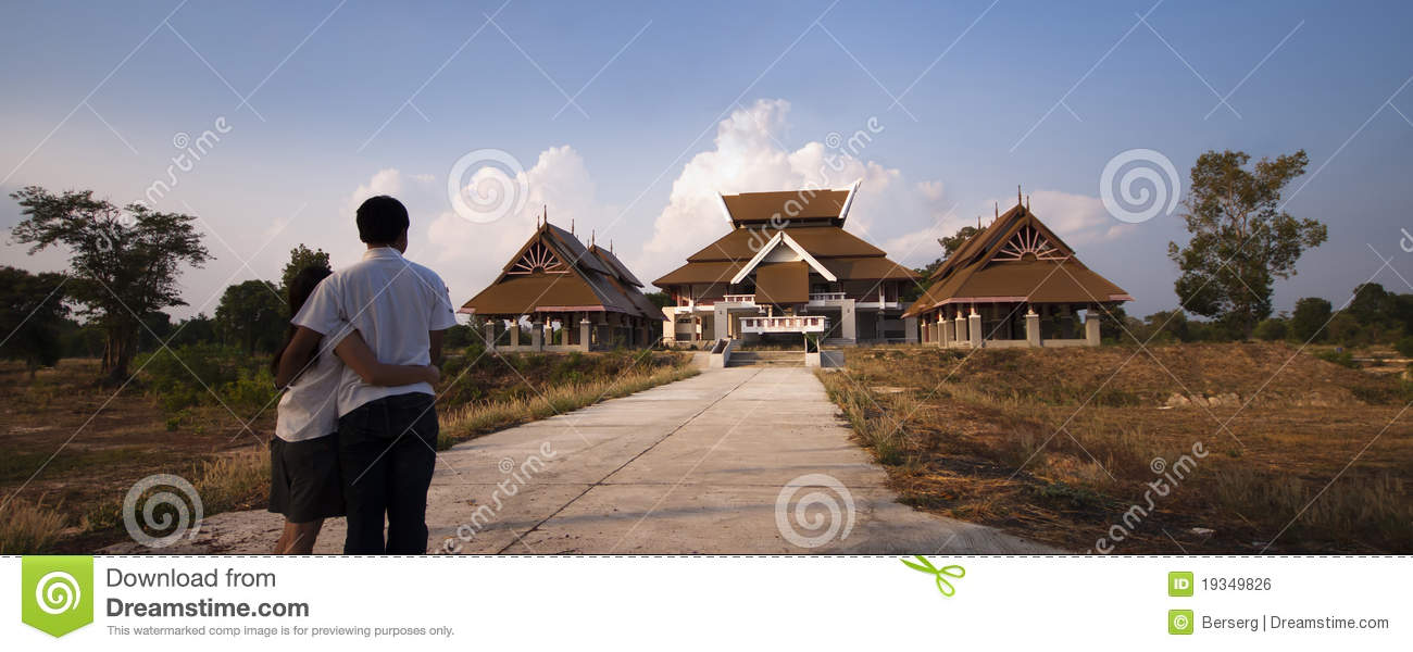 Modern thai style house stock photo image of artistical for Thai modern house style