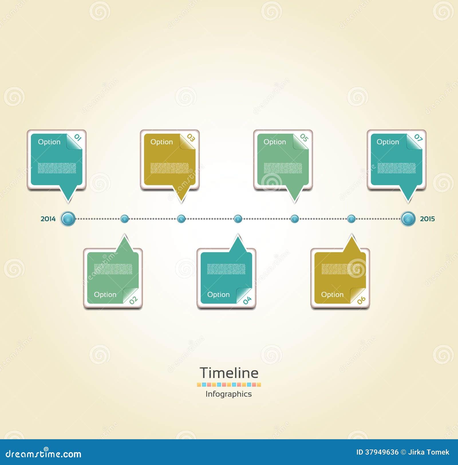 modern timeline design template stock vector