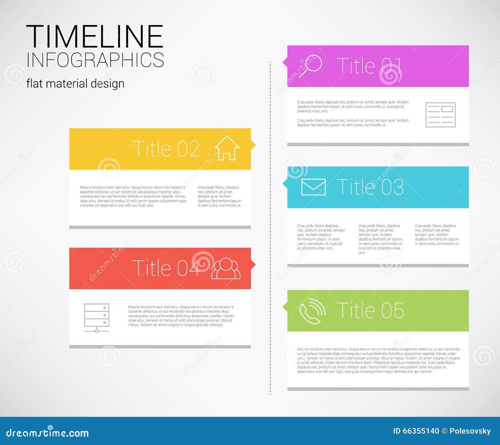 Modern Architecture Timeline modern timeline design template stock vector - image: 66355140