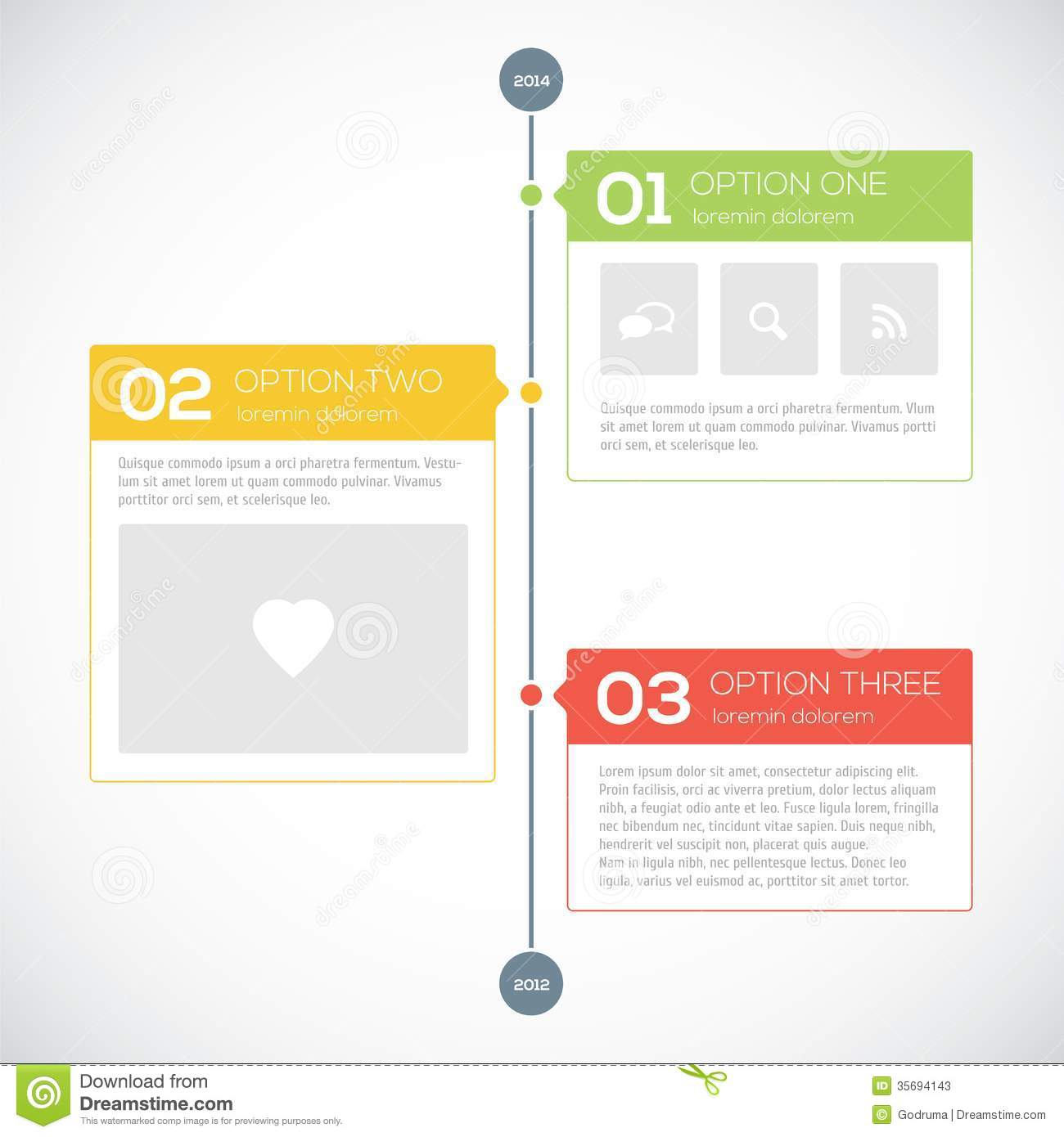 Modern Timeline Design Template Stock Vector Illustration Of