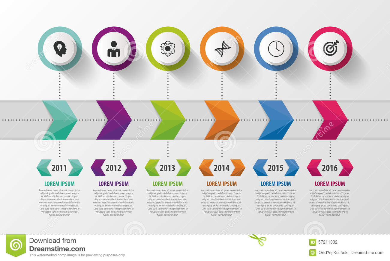 Modern Timeline Infographic. Abstract Design Template ...