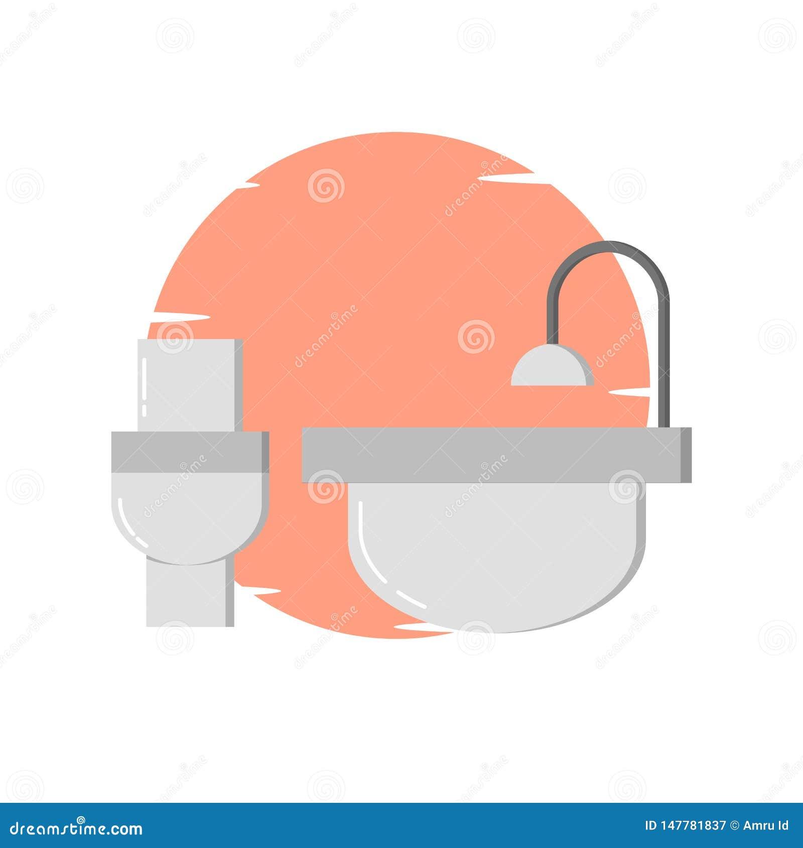 Modern toilet, bathup illustration - vector