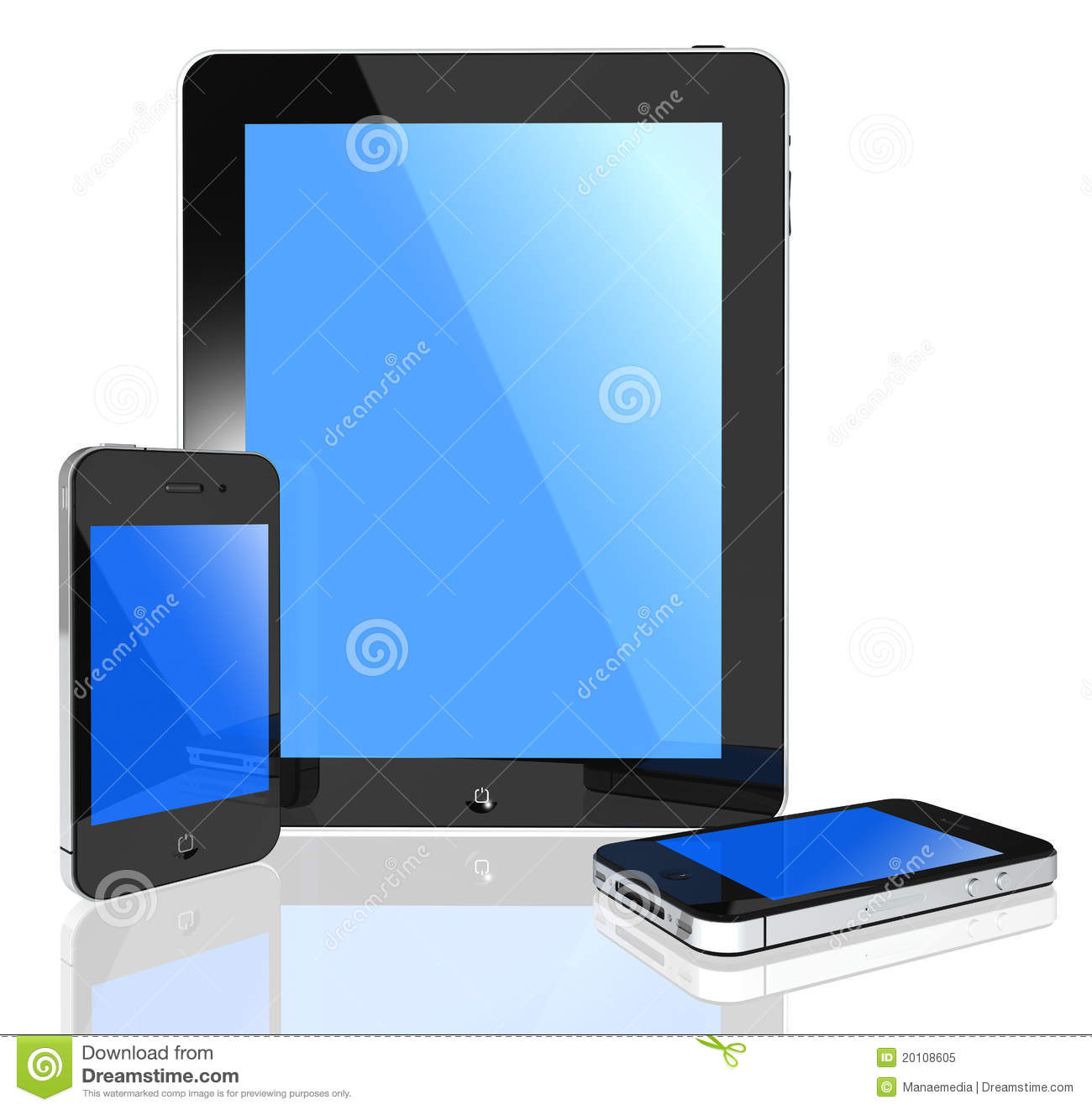 modern touch screen tablet pc and phone royalty free stock photo image 20108605. Black Bedroom Furniture Sets. Home Design Ideas