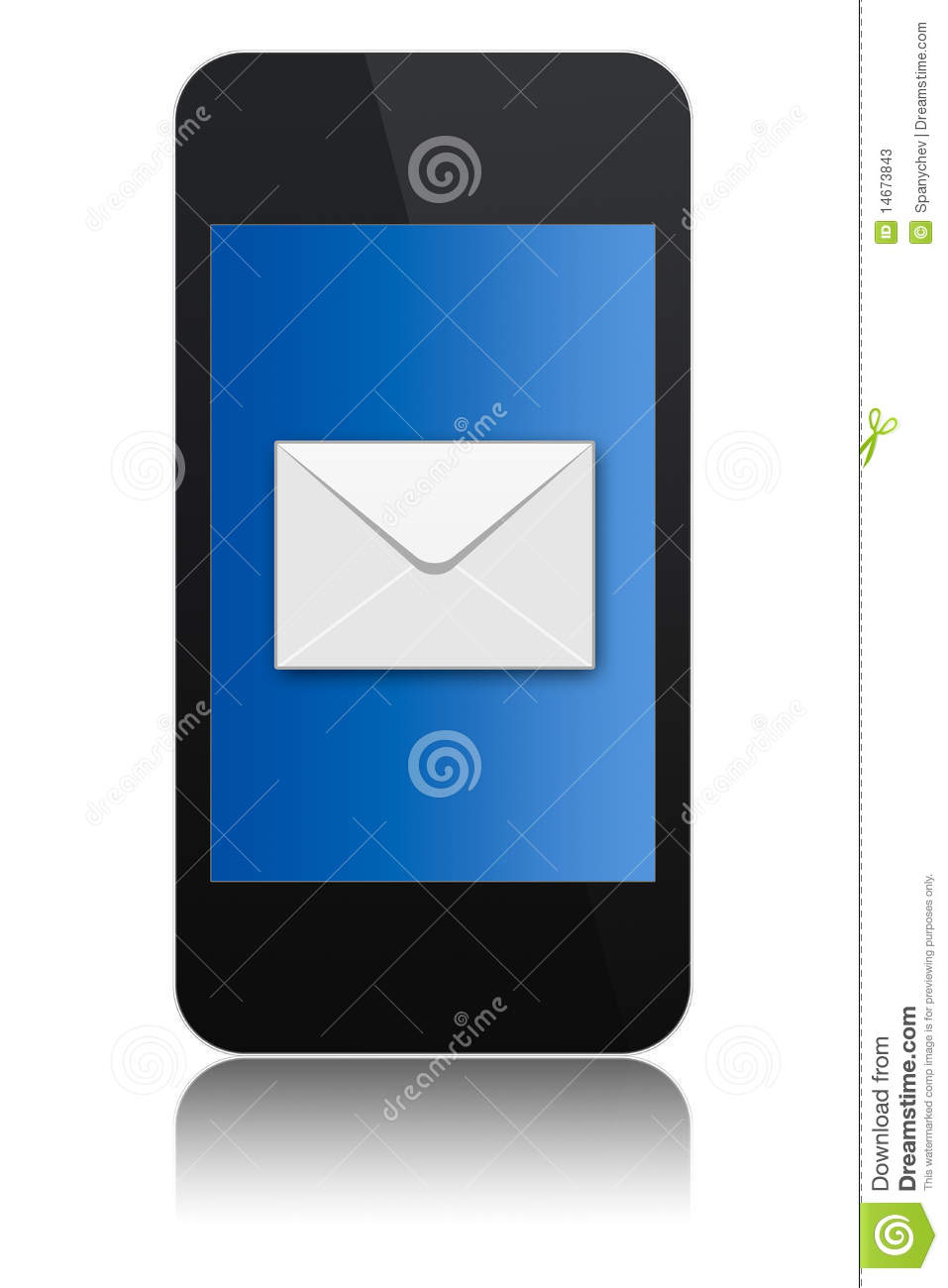 modern touchscreen phone with letter symbol stock photos