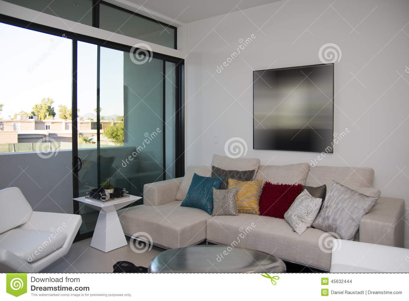 Modern townhome apartment building stock photo image for Multi storey apartment modern design