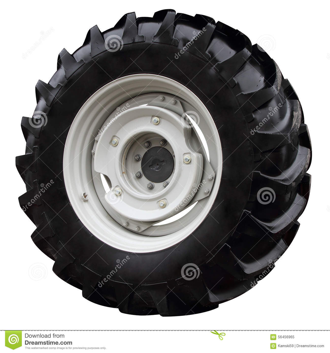 Tractor Wheel Person : Modern tractor wheel stock image of