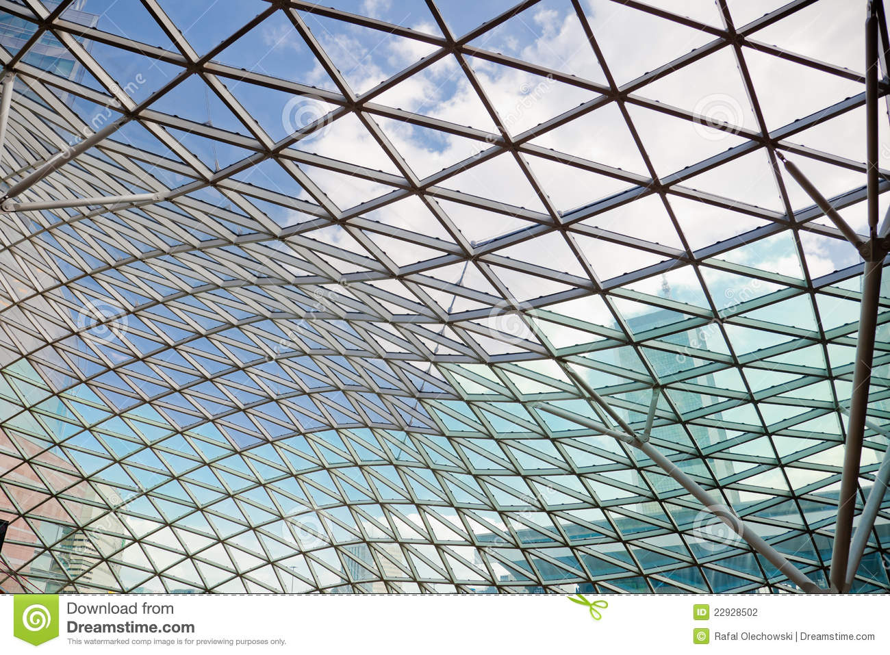 modern transparent glass ceiling stock photography image