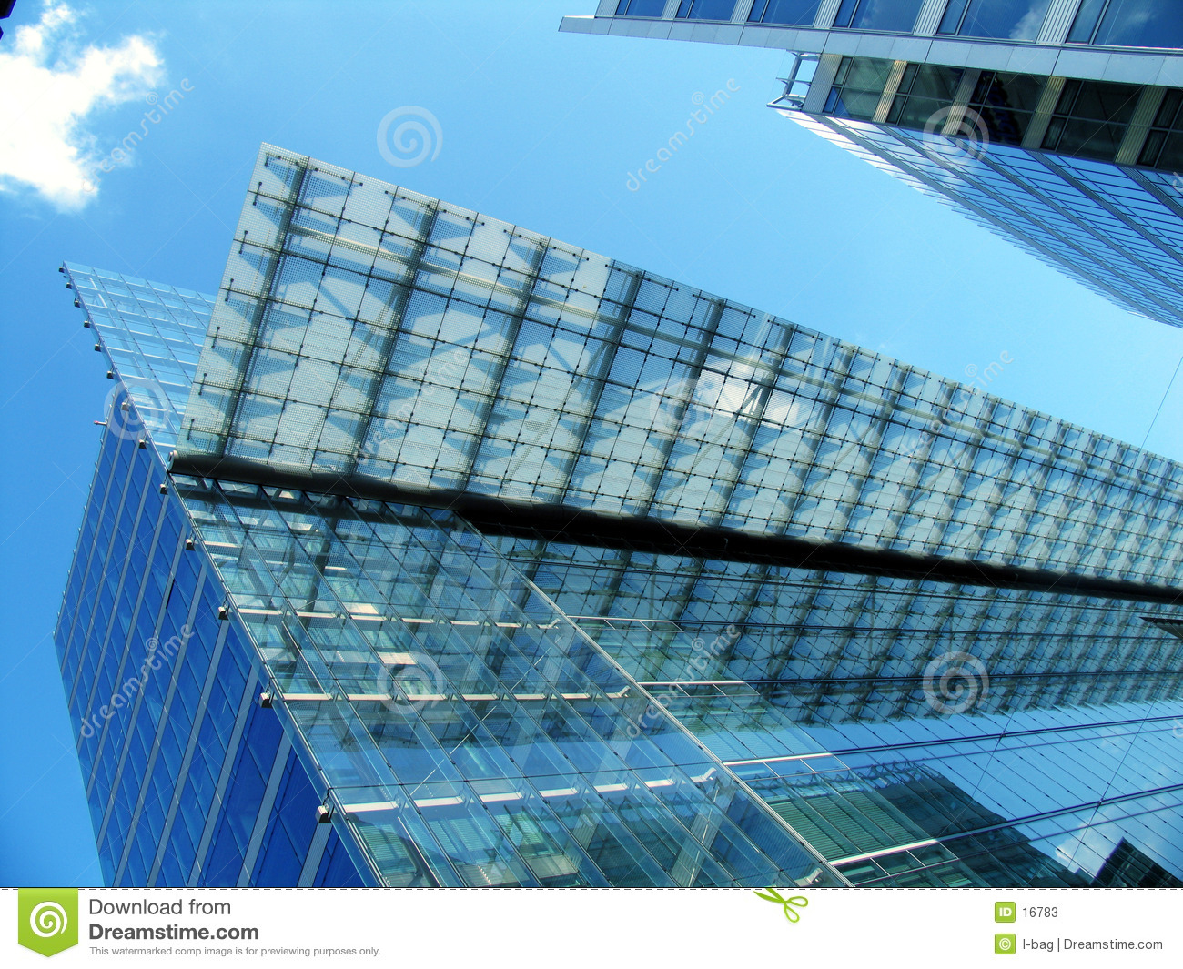 Modern transparent office building