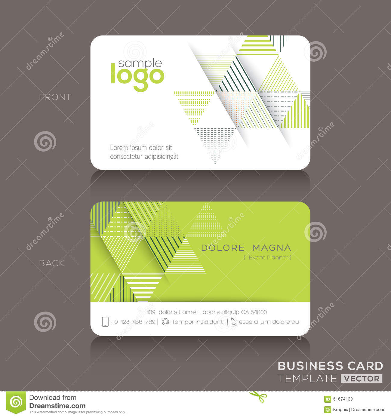 trendy business card design template stock vector  image: 59709285