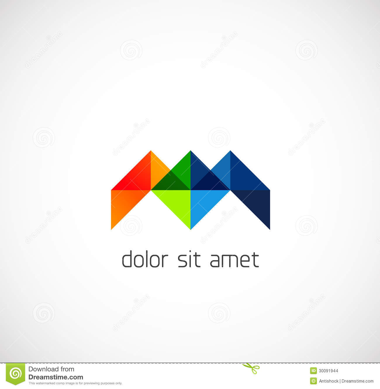 Modern triangle abstract business symbol stock images for Triangle concept architecture