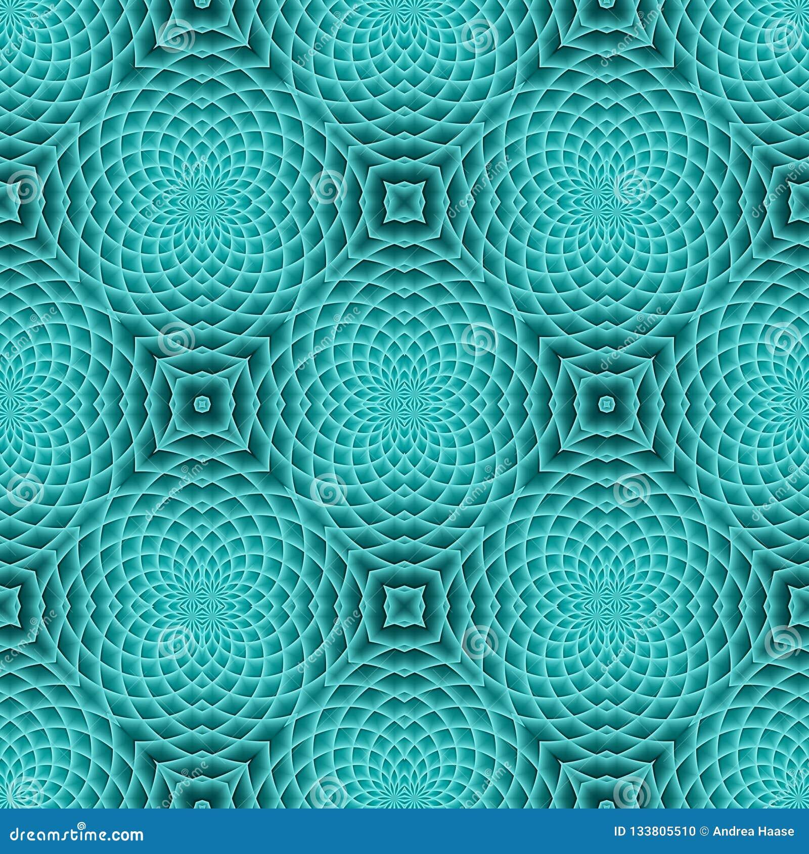 Modern Turquoise Seamless Pattern Stock Illustration
