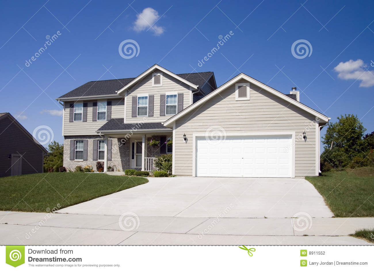 Modern two story home stock photography image 8911552 Modern 2 story homes