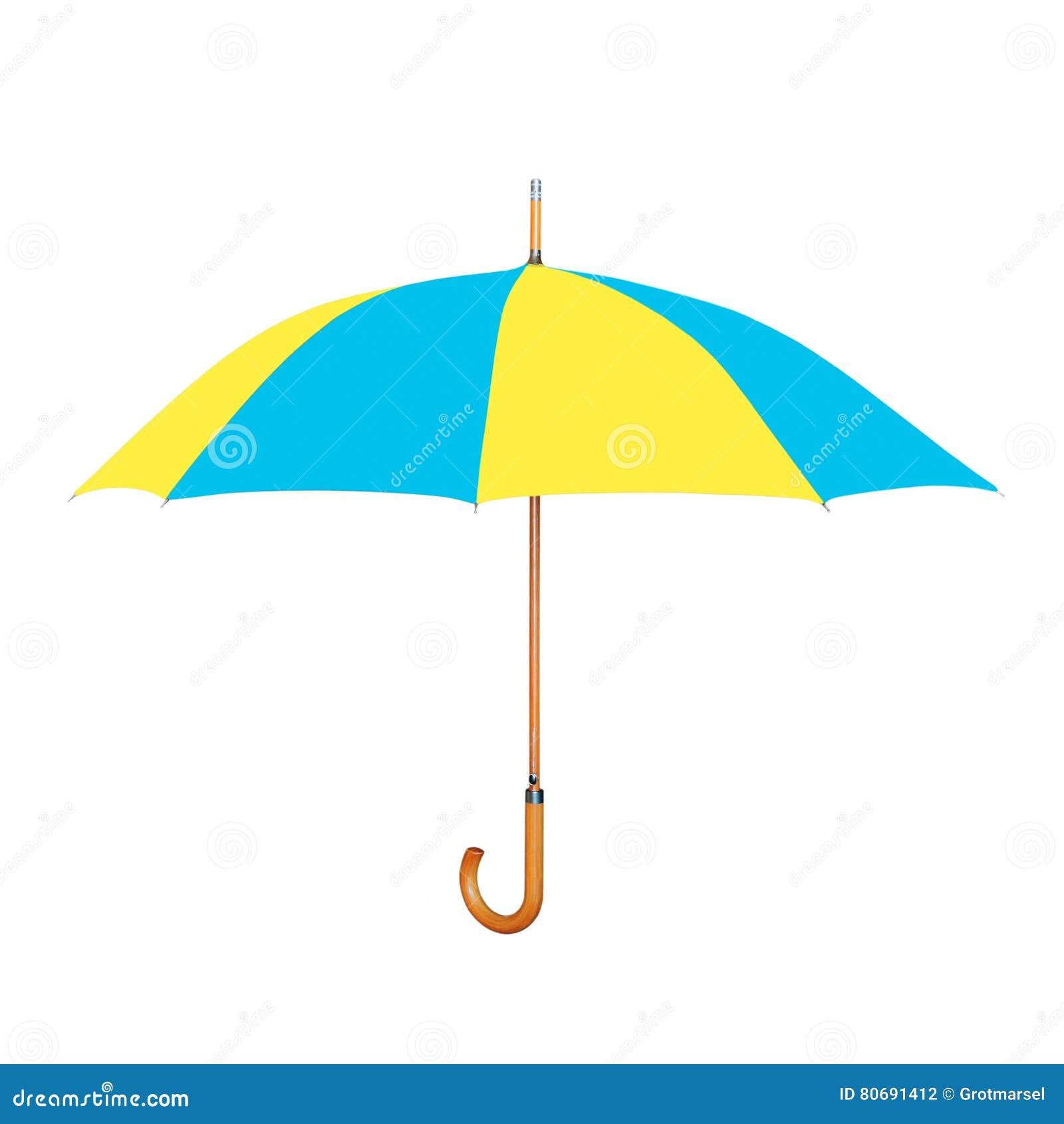 modern umbrella - modern umbrella in ukrainian flag colors isolated on white stock