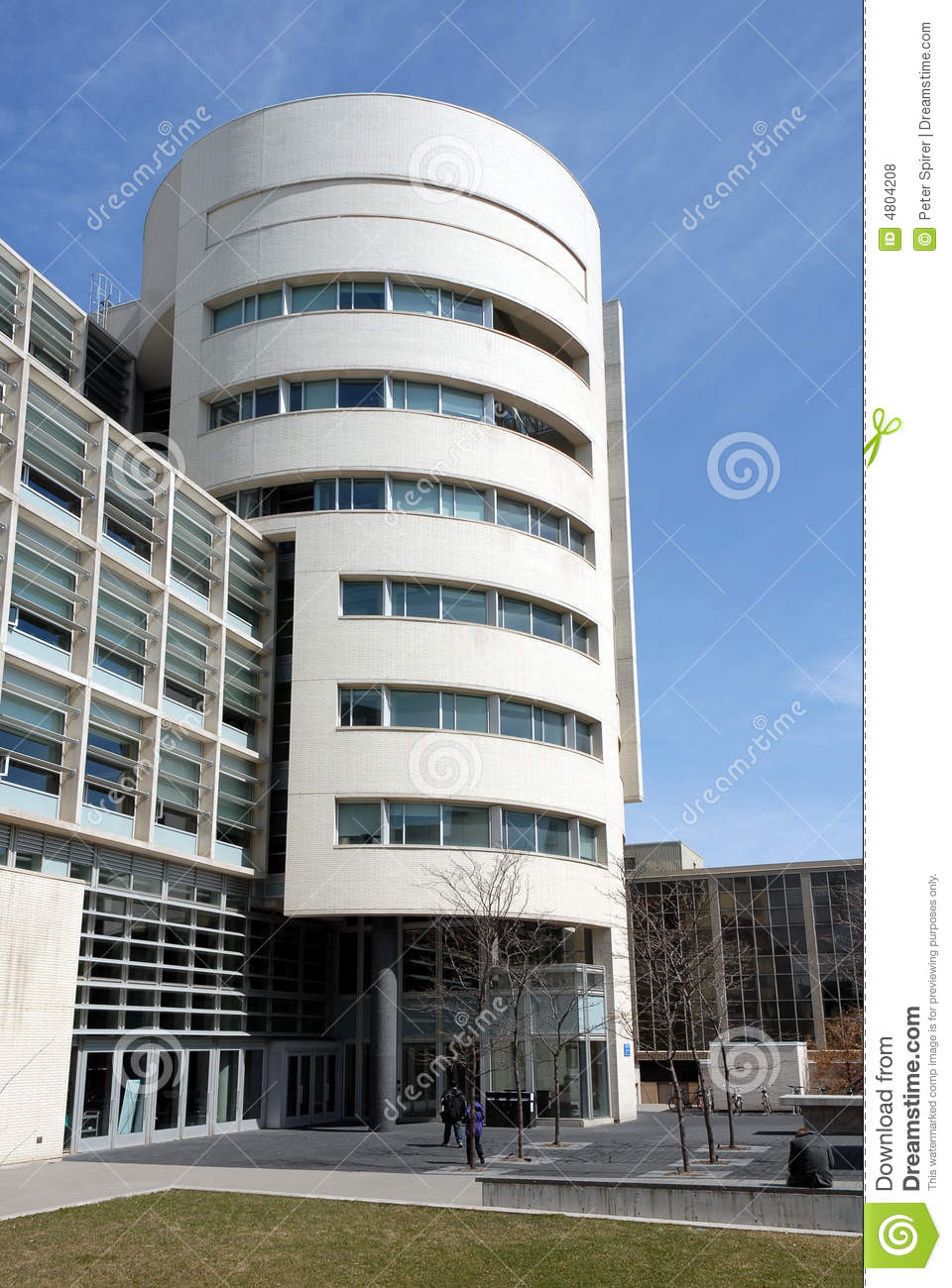 Modern university building stock photo. Image of student ...