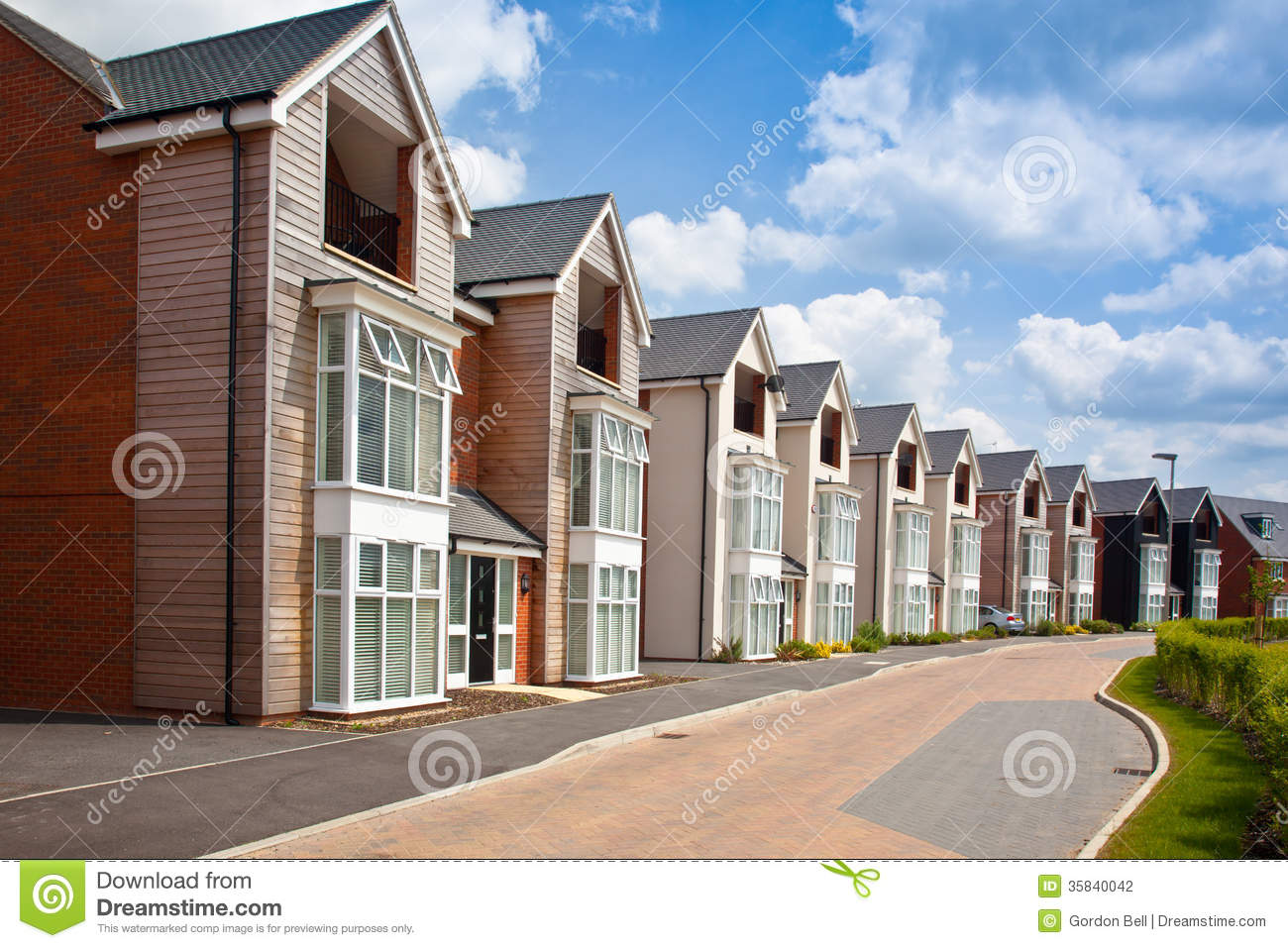 modern urban housing stock photography   image 35840042