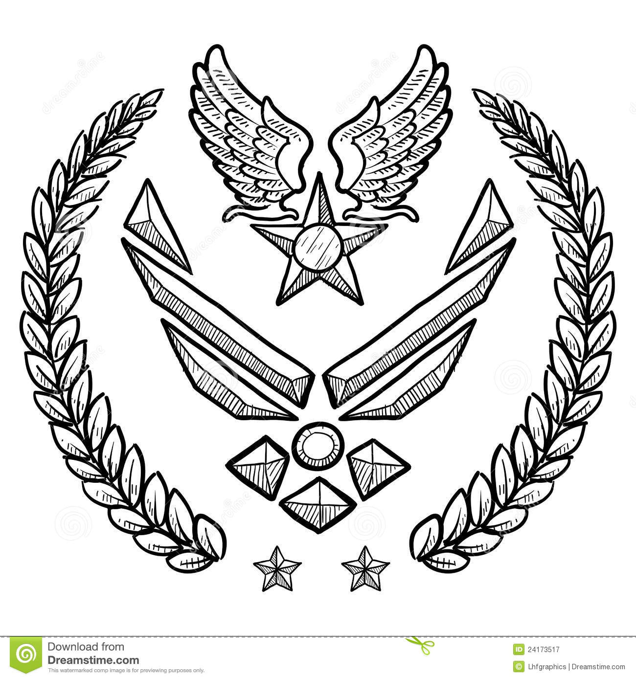 air force insignia coloring pages - photo#6
