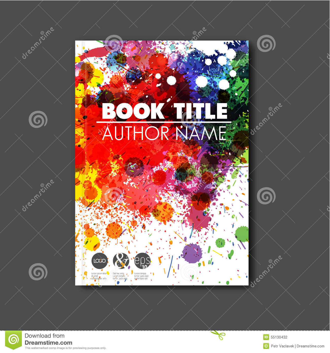 Drawing Book Cover Vector : Car wash cover page booklet format a report vector