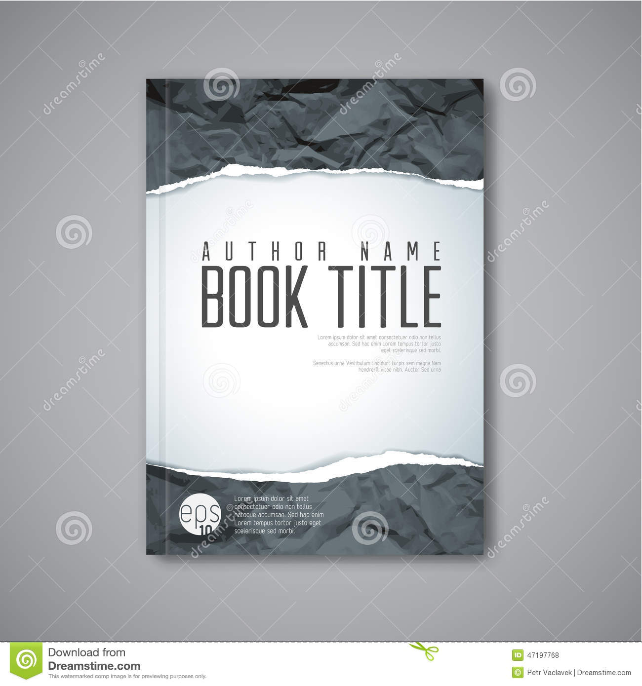 Modern Book Cover ~ Modern vector abstract book cover template stock
