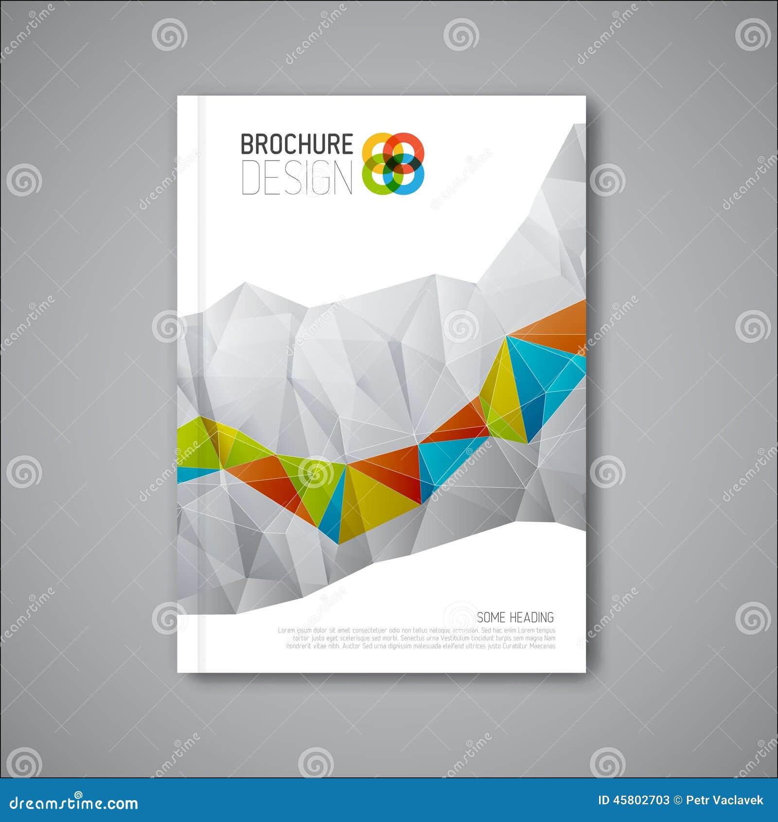 Abstract Modern Template Book Cover : Modern vector abstract brochure design template stock