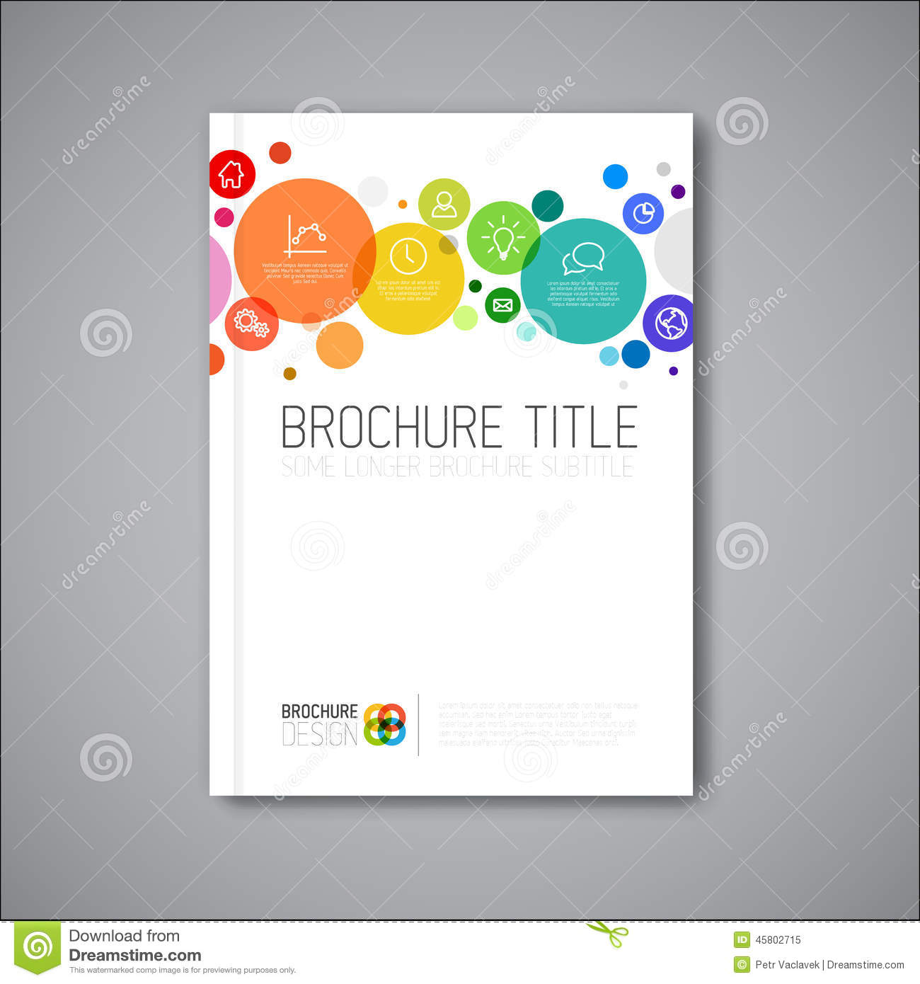 Modern vector abstract brochure design template stock for Modern brochure design templates