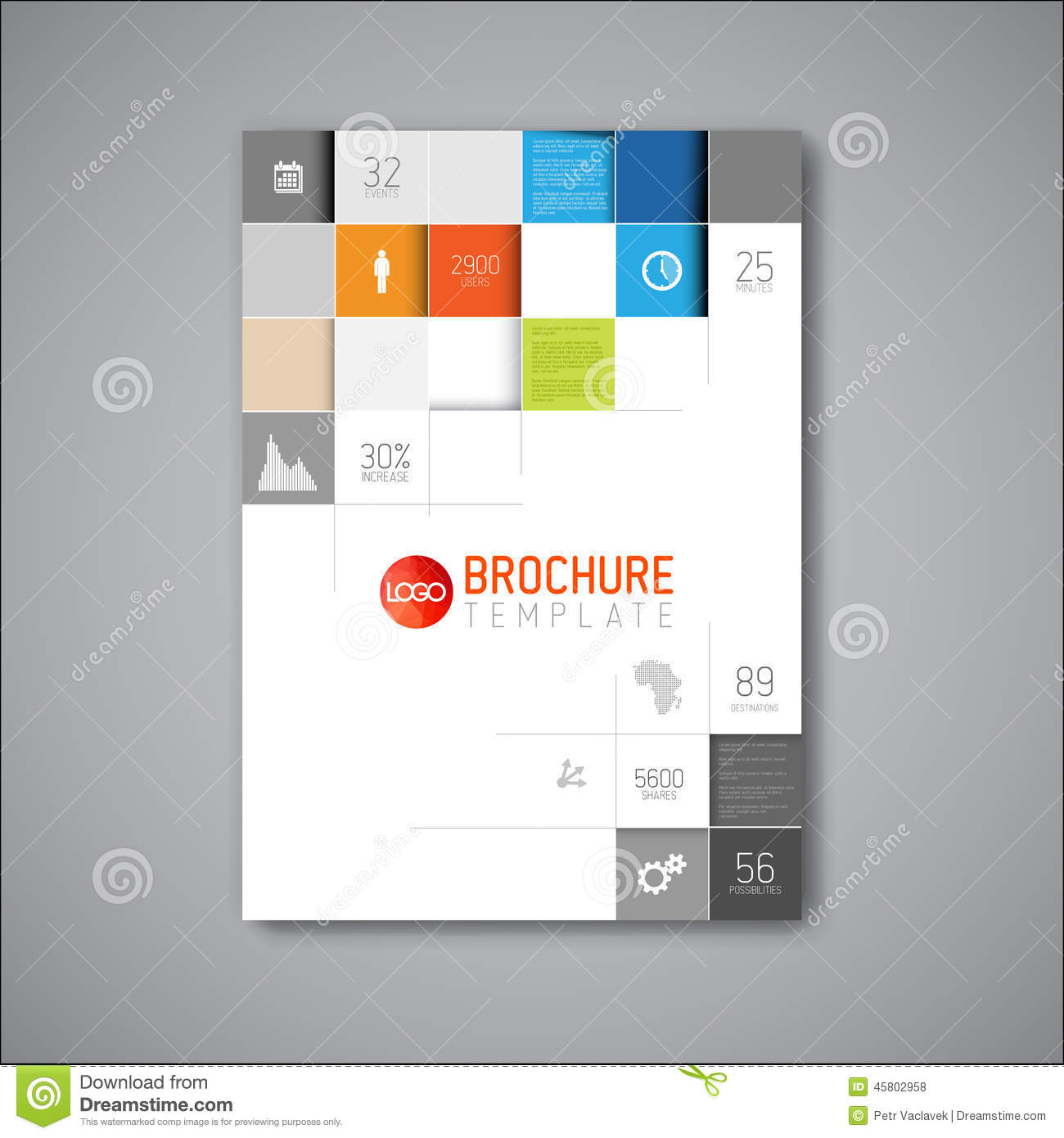 modern vector abstract brochure design template stock illustration