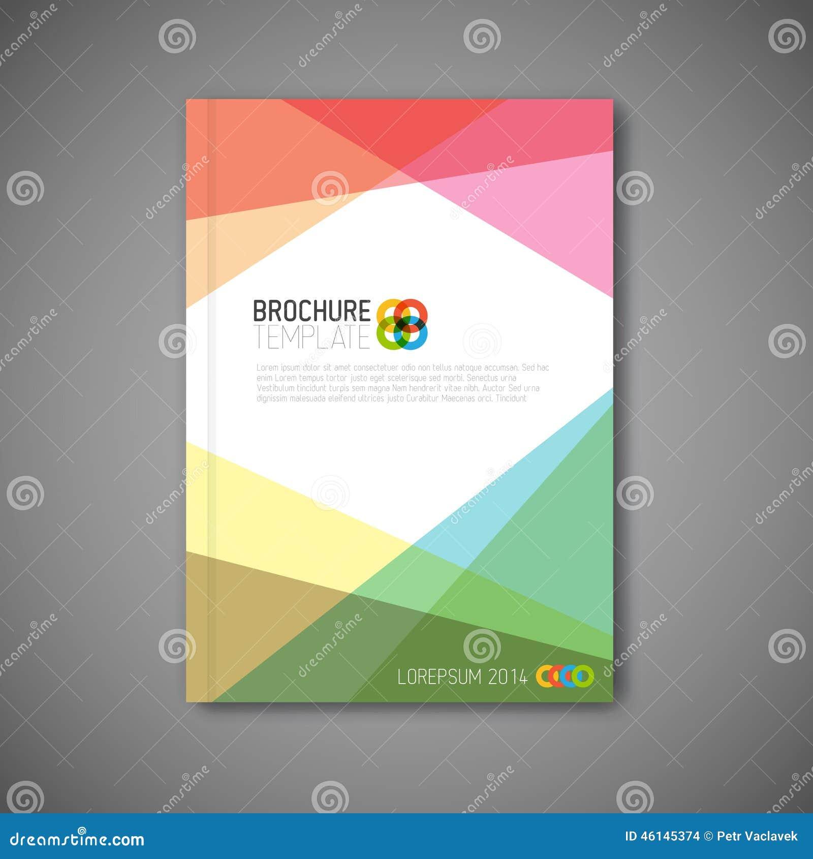 Brochure Booklet Flyer Or Book Cover Template Vector : Modern vector abstract brochure design template stock