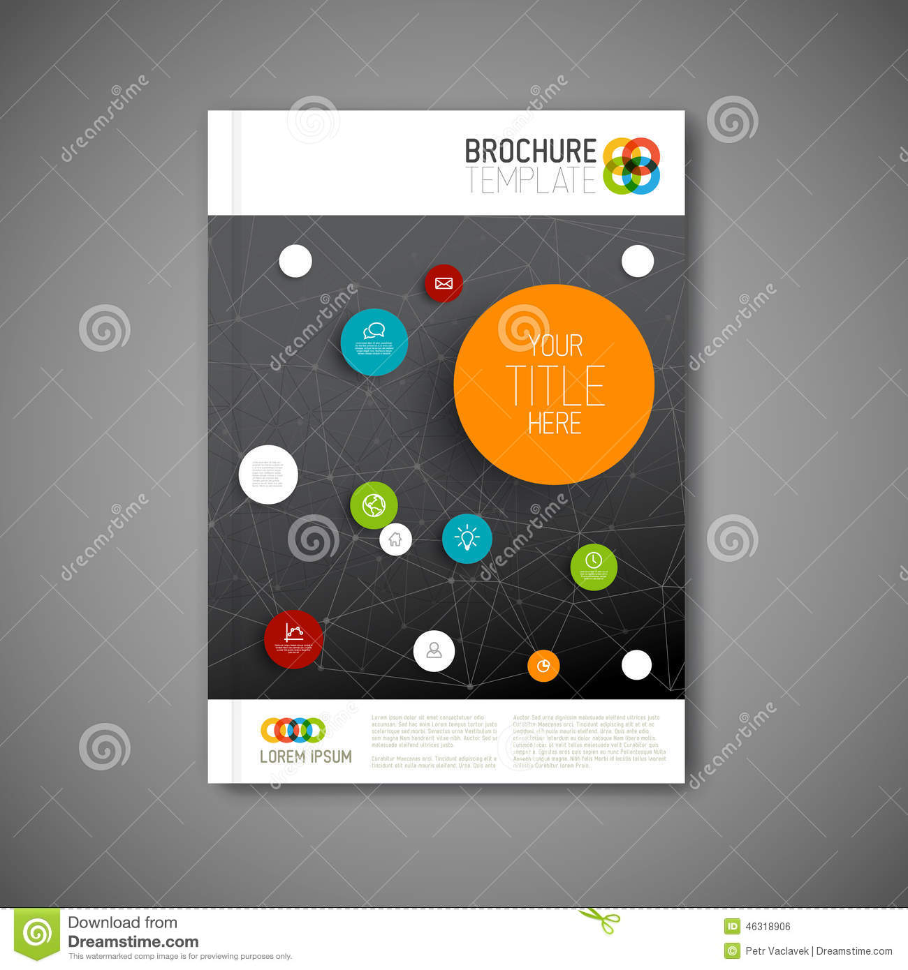 modern vector abstract brochure report design template stock modern vector abstract brochure report design template