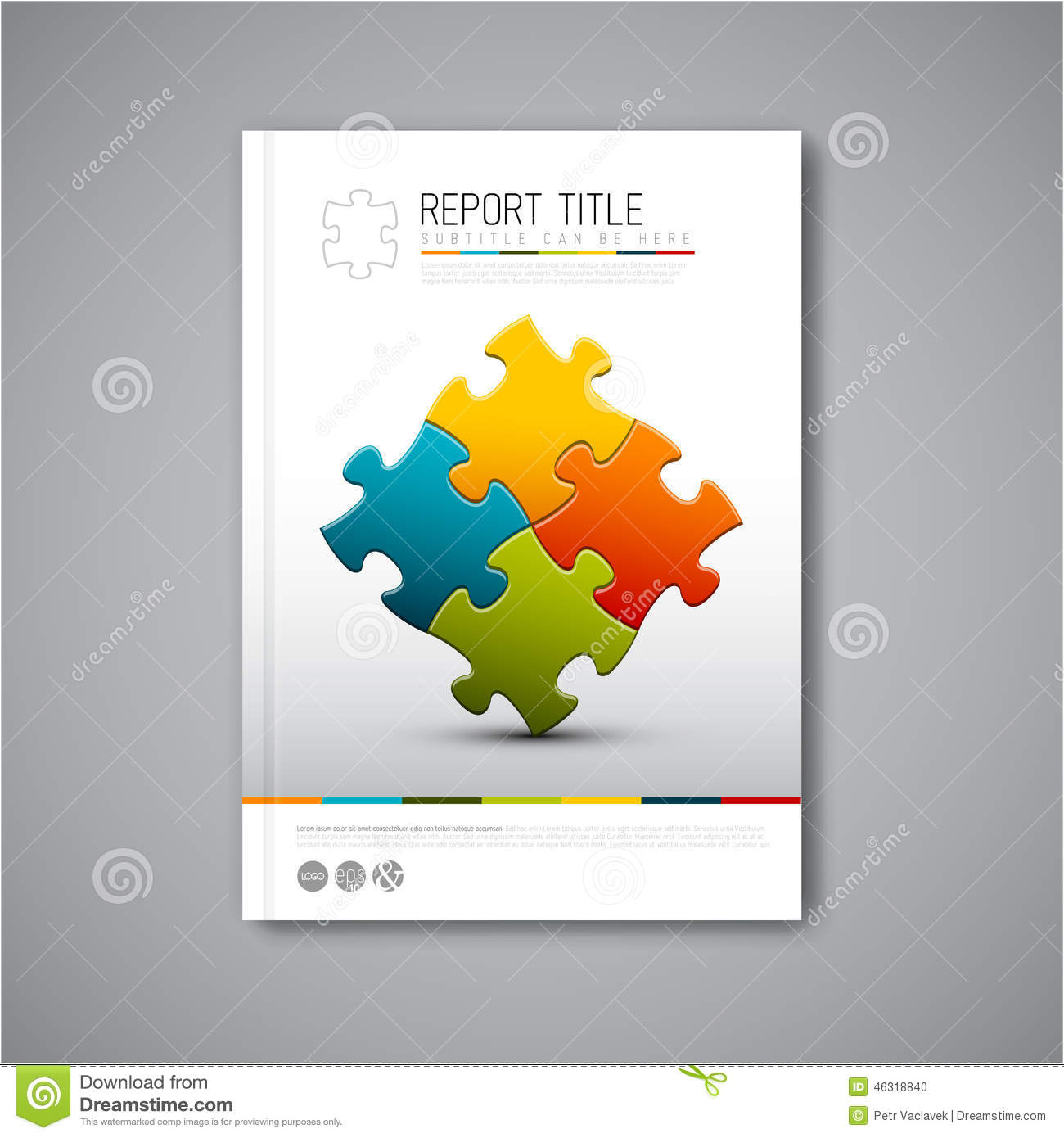 Modern Vector Abstract Brochure Report Design Template Stock ...