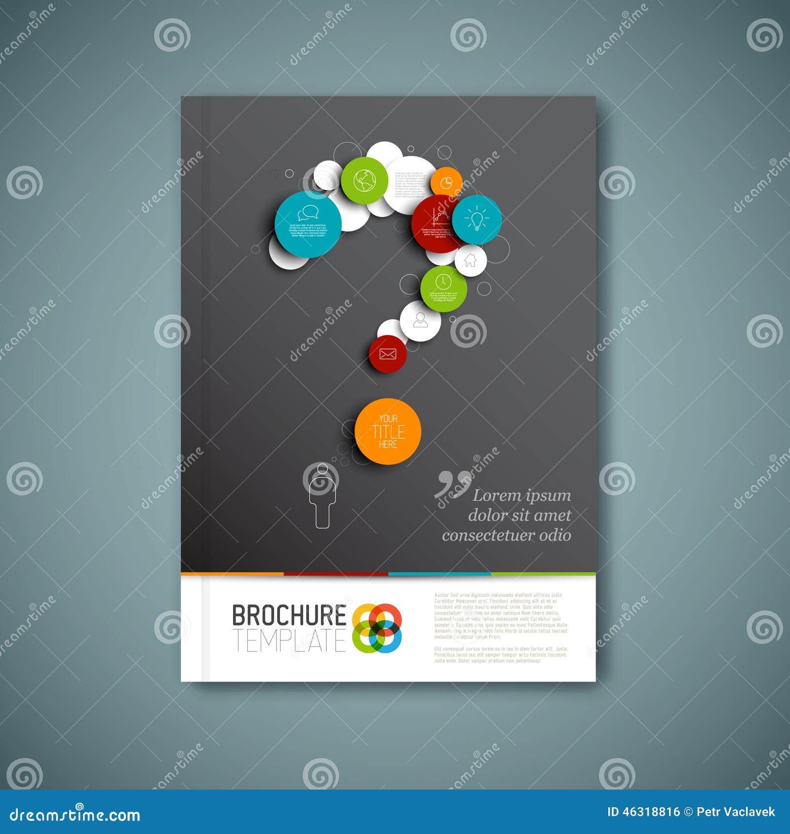 Modern Vector abstract het ontwerpmalplaatje van het brochurerapport