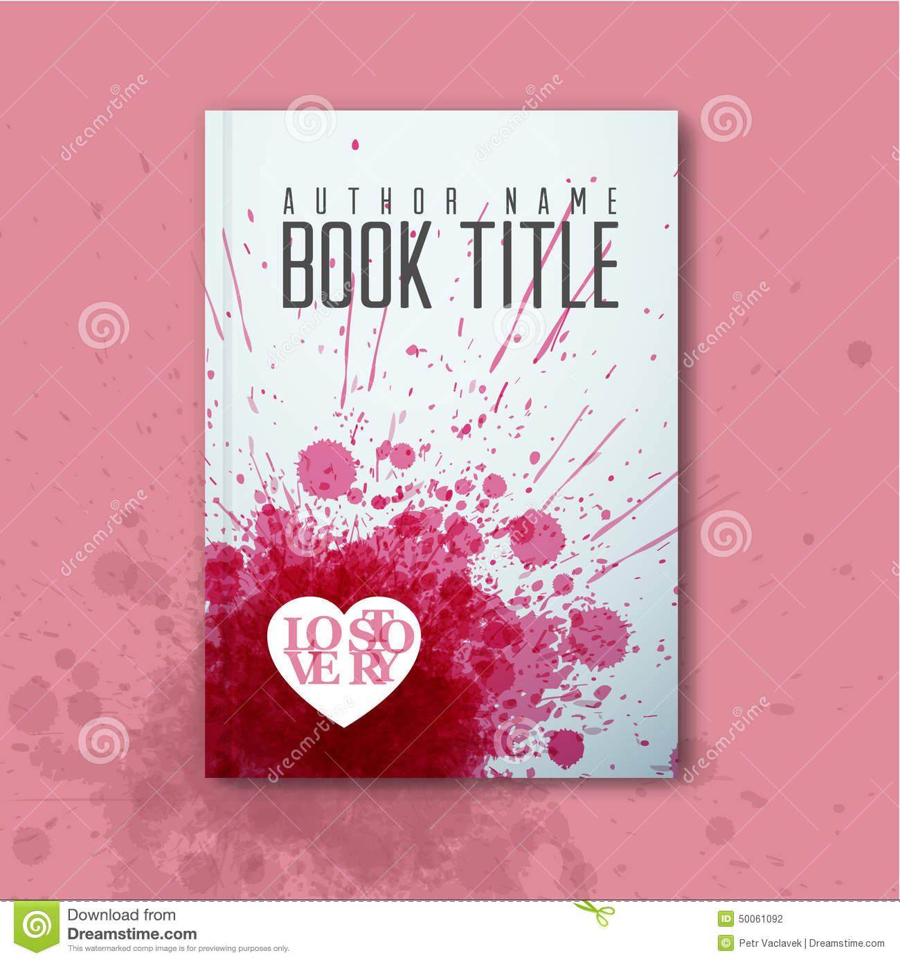 Modern Book Cover Up : Modern vector abstract love book cover template stock