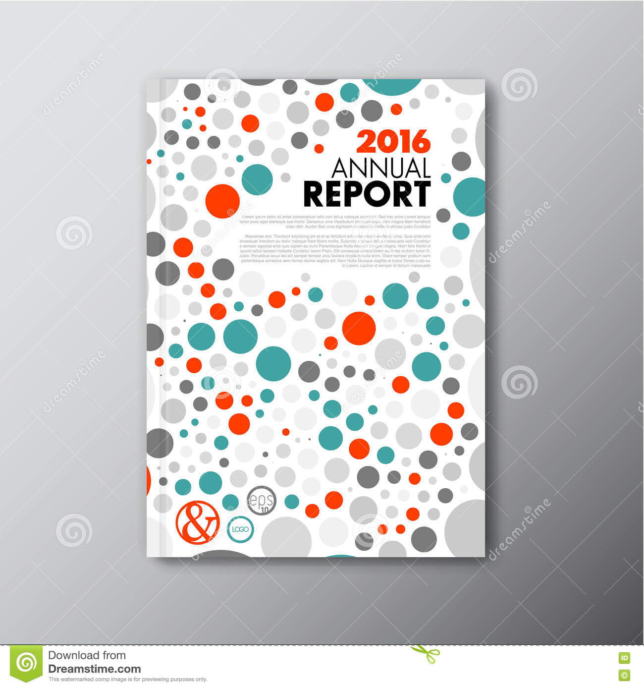 modern vector annual report design template stock vector image modern vector annual report design template