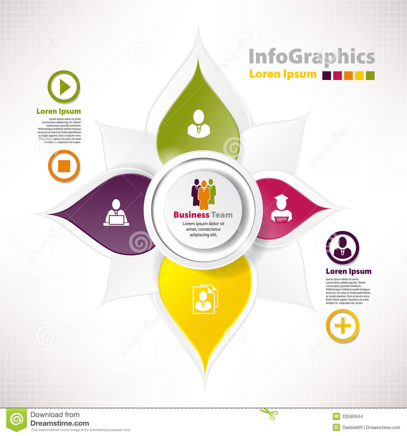 Modern Vector Elements For Infographics With Paper Elements Stock ...