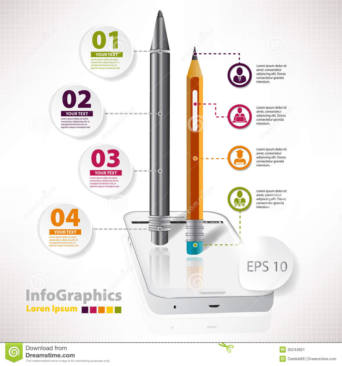 Modern Vector Elements For Infographics With White