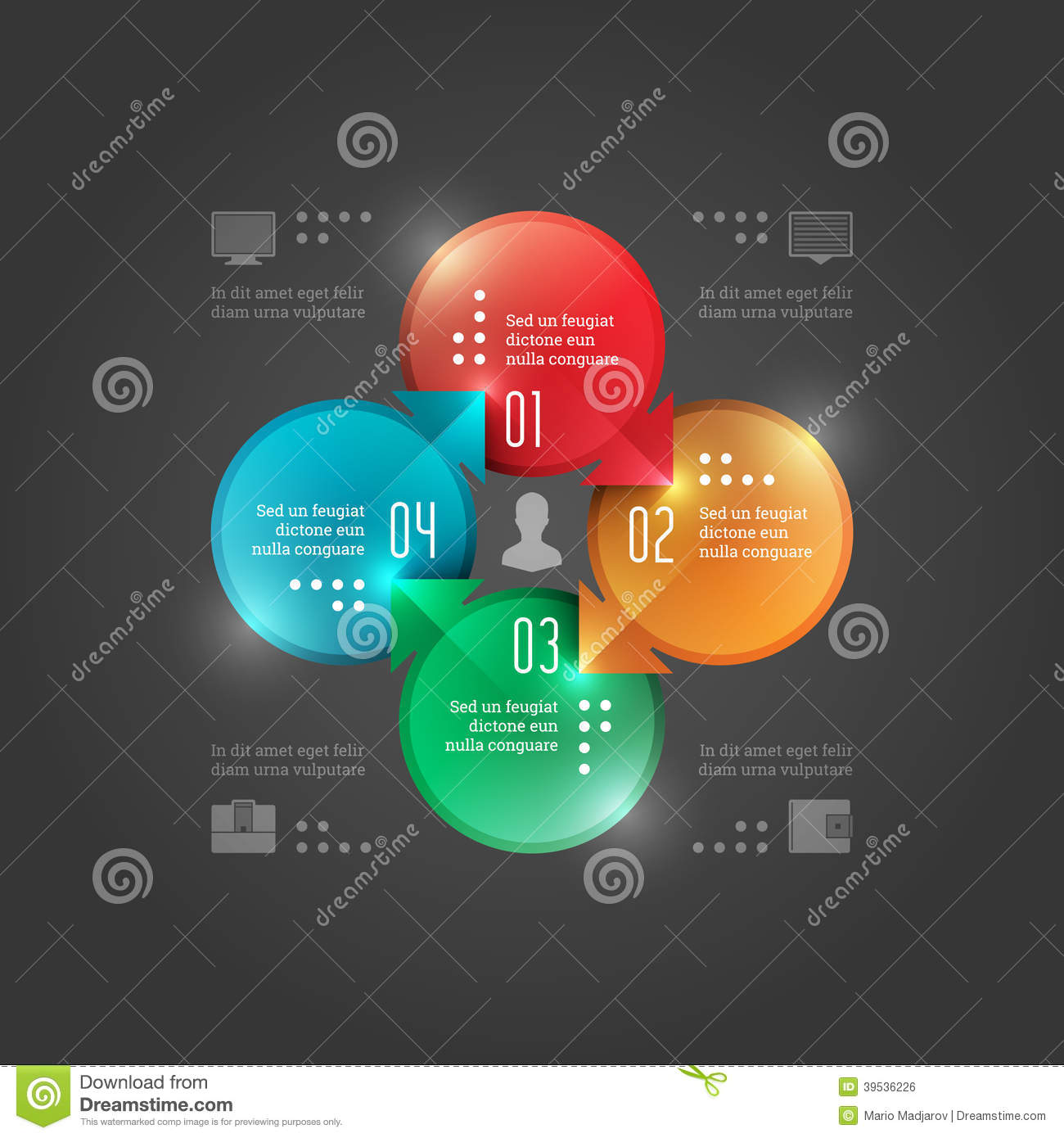business infographics design template vector elements clip art of camera equipment clip art of cameras or cell phones