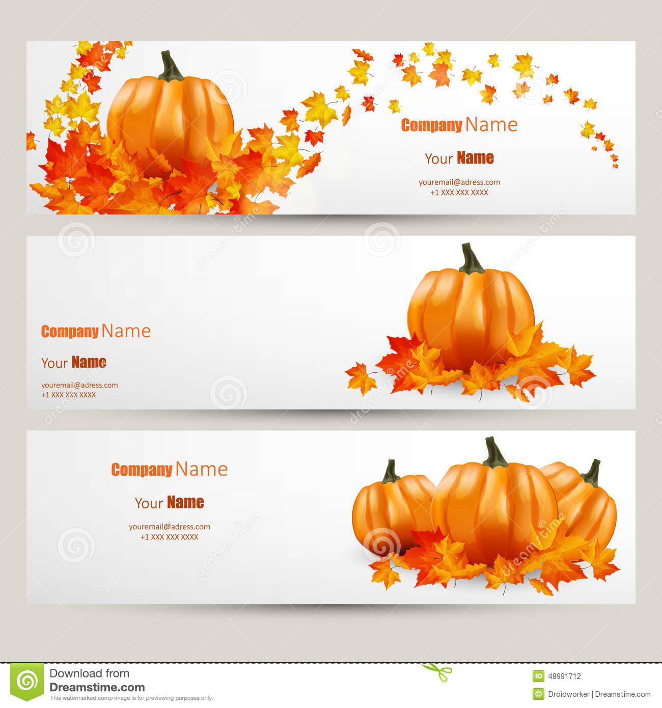 Modern vector set of colorful autumn leaves and pumpkins bannflat style website design with - Autumn plowing time all set for winter ...