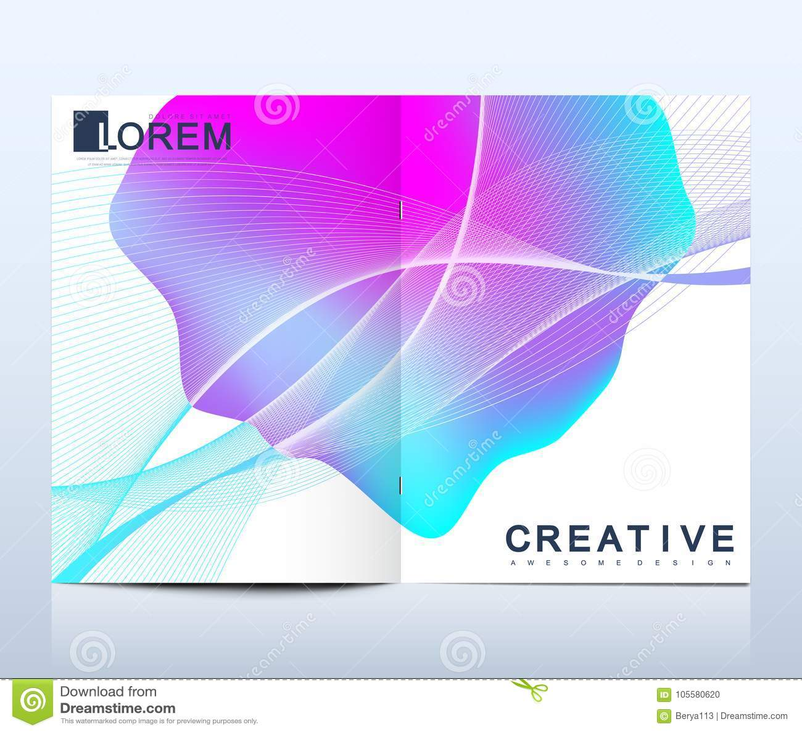 modern vector template for bi fold brochure leaflet flyer cover