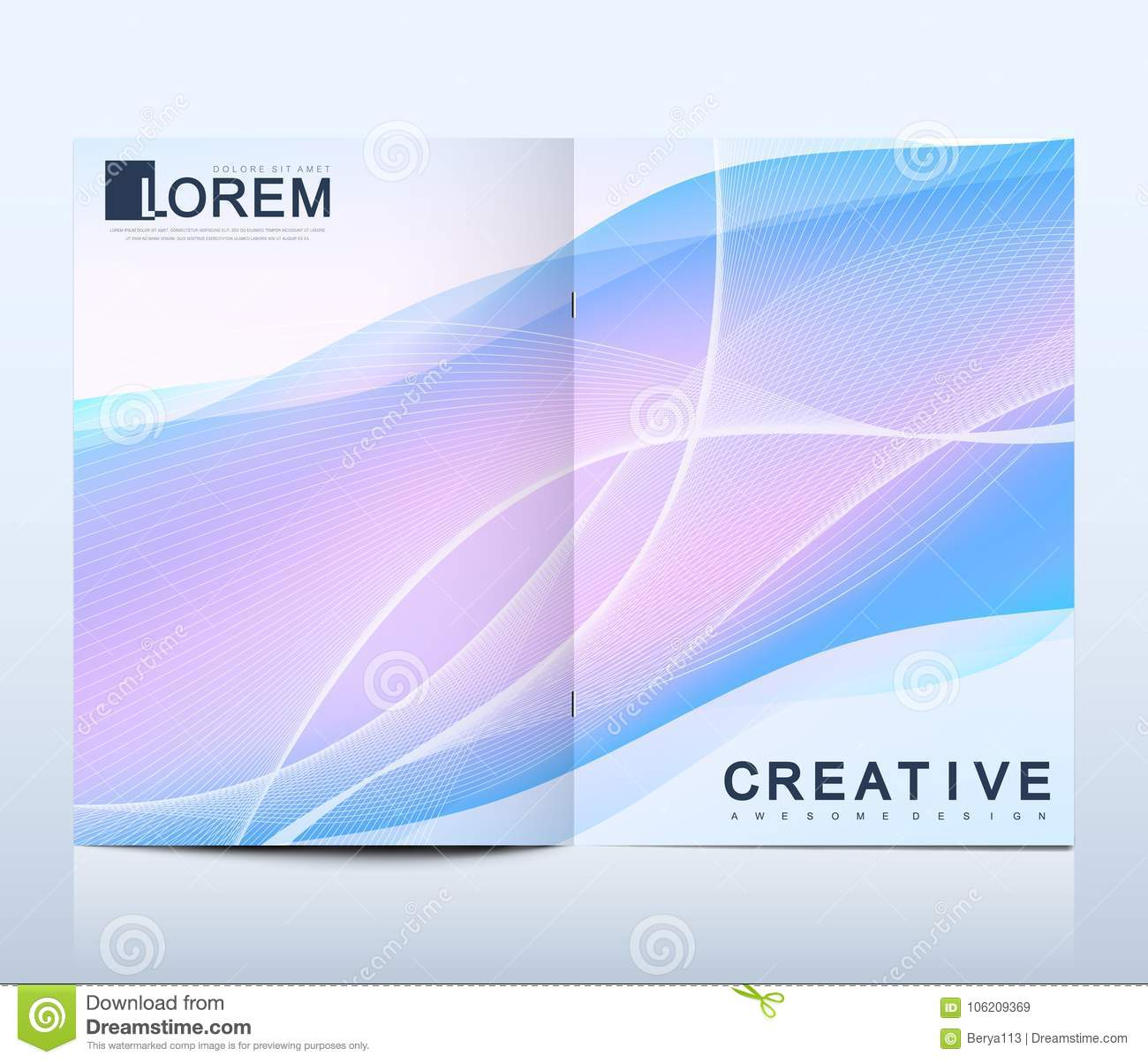 modern vector template for bi fold brochure leaflet flyer cover