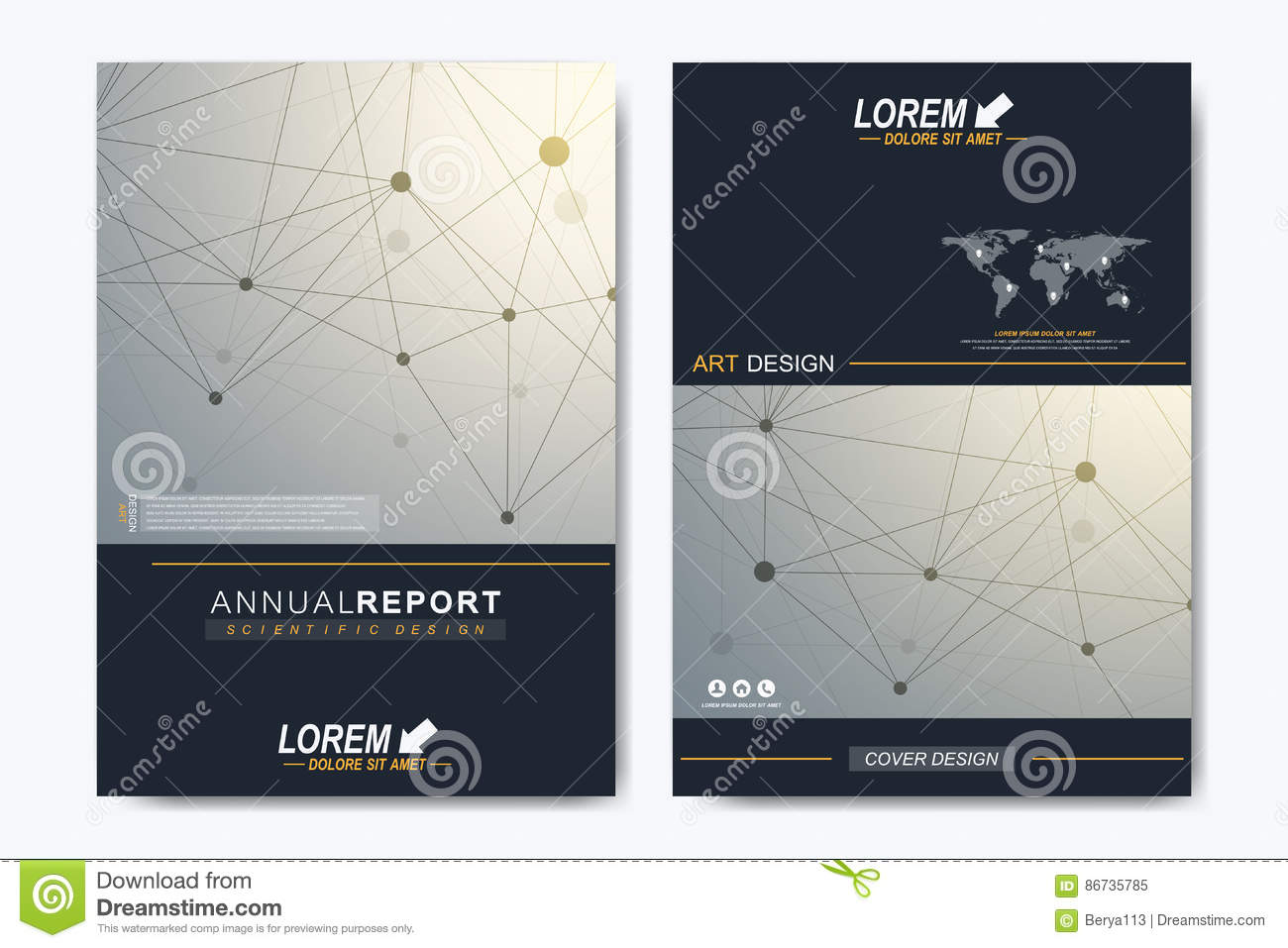 Modern vector template for brochure, Leaflet, flyer, advert, cover, catalog, magazine or annual report. Business